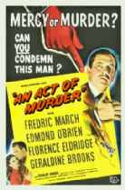 An Act of Murder 1948 DVD - Fredric March / Edmond O'Brien